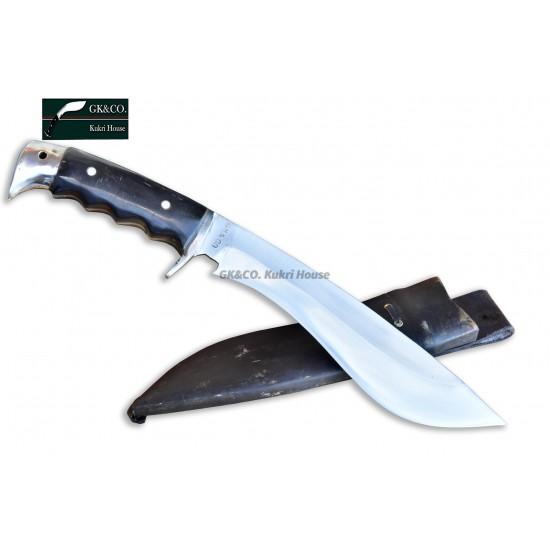 Genuine Gurkha Kukri - 9 Inch Blade GK&CO Bahadur Buffalo Handle - Handmade by GK&CO. Kukri House in Nepal.