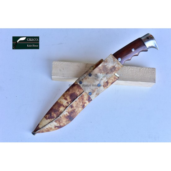 Genuine Gurkha Kukri - 9 Inch Blade GK&CO Bahadur Rose Wood Handle - Handmade by GK&CO. Kukri House in Nepal.