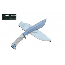 Genuine Gurkha Kukri - 9 Inch Blade GK&CO Bahadur Bone Handle - Handmade by GK&CO. Kukri House in Nepal.