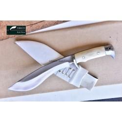 Genuine Gurkha Kukri - 9 Inch Blade GK&CO Bahadur Bone Handle - Handmade by GK&CO. Kukri House in Nepal.