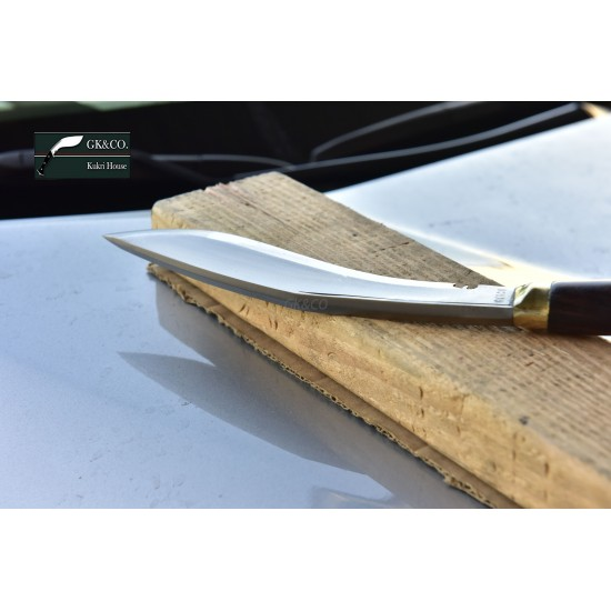 Genuine Gurkha Kukri - 9 Inch Blade Nepal Army Authentic Issue Wooden Handle - Handmade by GK&CO. Kukri House in Nepal.